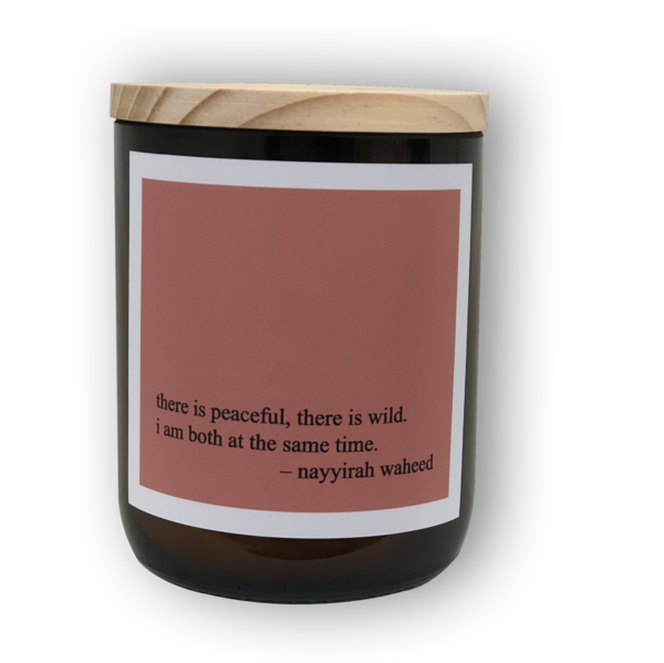 Heartfelt Quote Candle - Peace + Wild