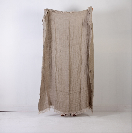 Voyager Linen Throw - Natural