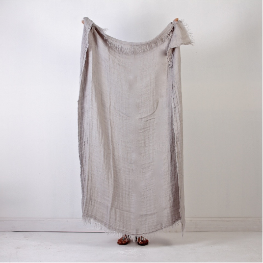 Voyger Linen Throw - Smoke