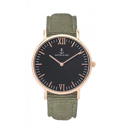 40mm Campus Black Olive Canvas