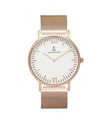 40mm Campus Rose Gold Mesh Watch