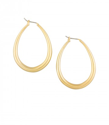 Gold Water Drop Hoops