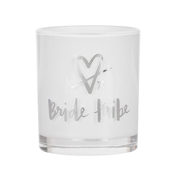Bride Tribe Silver Candle
