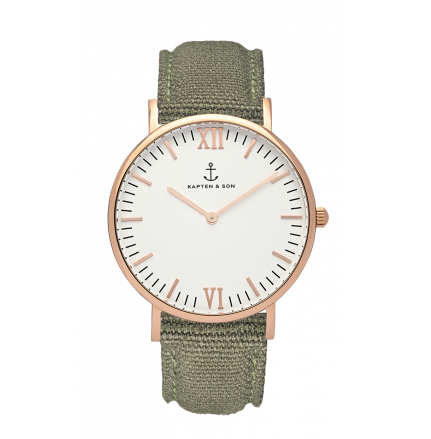40mm Campus Olive Canvas Watch
