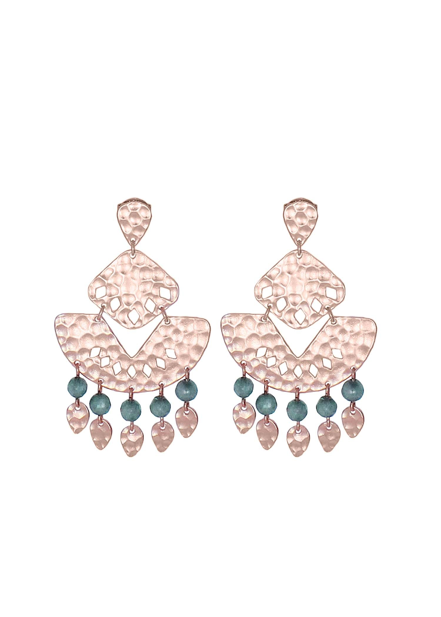 Isla Statement Earring Stormy Agate