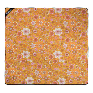 Picnic Mat 2x2m Retro Mustard Floral - Roma Gift & Gourmet