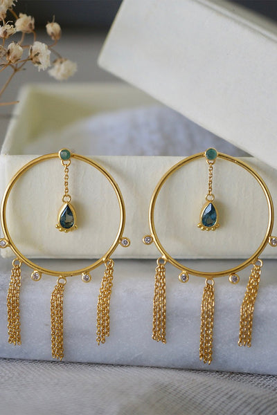 Ending Summer Earring - Brass Gold Plated