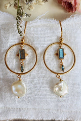 Salt Washed Earrings - Brass Gold Plated