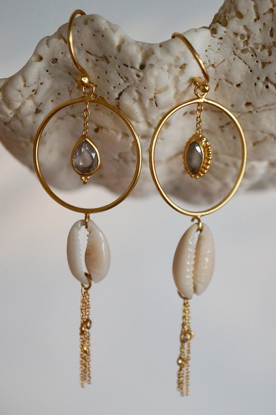 Ocean View Earring - Brass Gold Plated