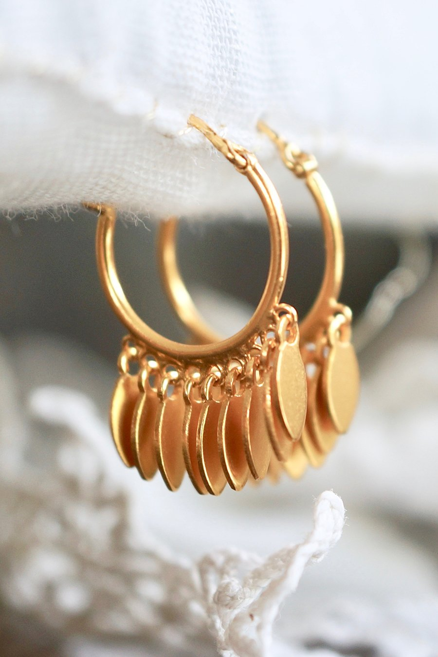 Waste Time With Me Earring - Brass Gold Plated