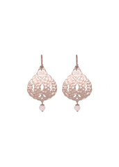 Lola Bead Drop Earring Rose Quartz