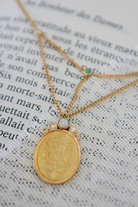 Sweet Emma Necklace - Brass Gold Plated