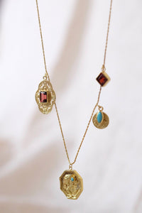 Nina Necklace- Brass Gold Plated