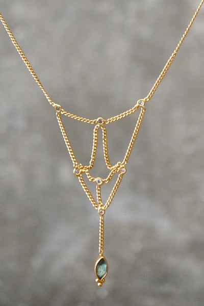 Just Friends Necklace - Brass Gold Plated