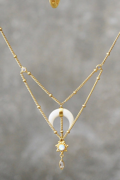 Disturb The Universe Necklace - Brass Gold Plated