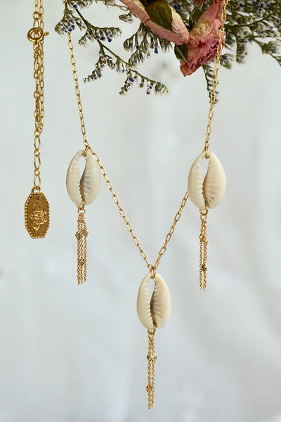 Days of Summer Necklace - Brass Gold Plated