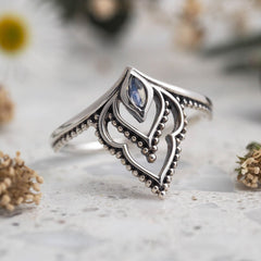 Manifest Rainbow Moonstone Ring