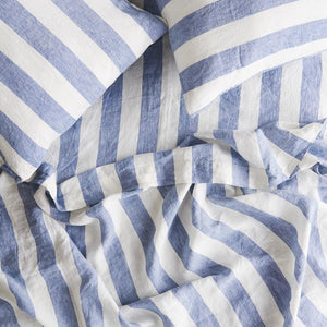 Fitted Sheet - Chambray Stripe - Roma Gift & Gourmet