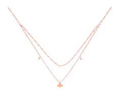 Rose Gold Coral Island Necklace