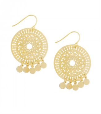 Gold Gypsy Laser Tinkle Earrings