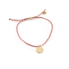 Gold Harmony Red Cord Bracelet