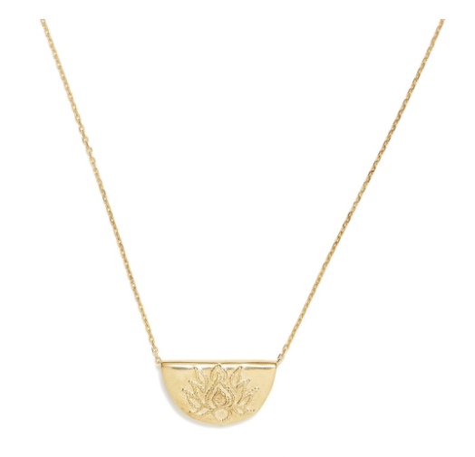 Gold Lotus Short Necklace