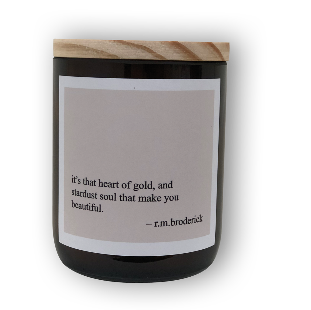 Heartfelt Quote Candle - Heart of Gold