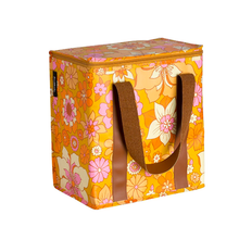 Load image into Gallery viewer, Poly Cooler Bag Retro Mustard Floral