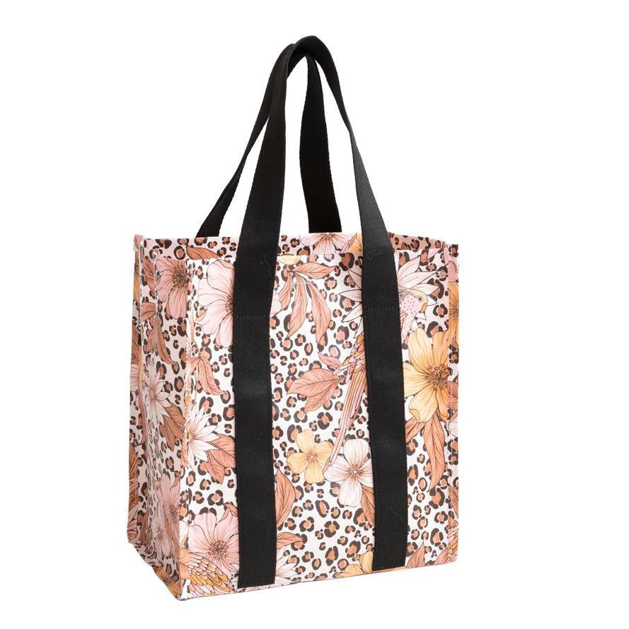 Poly Market Bag Leopard Floral - Roma Gift & Gourmet