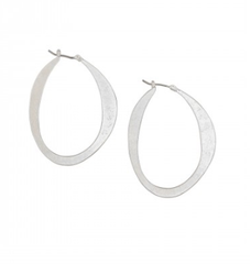Silver Thin Slice Hoops