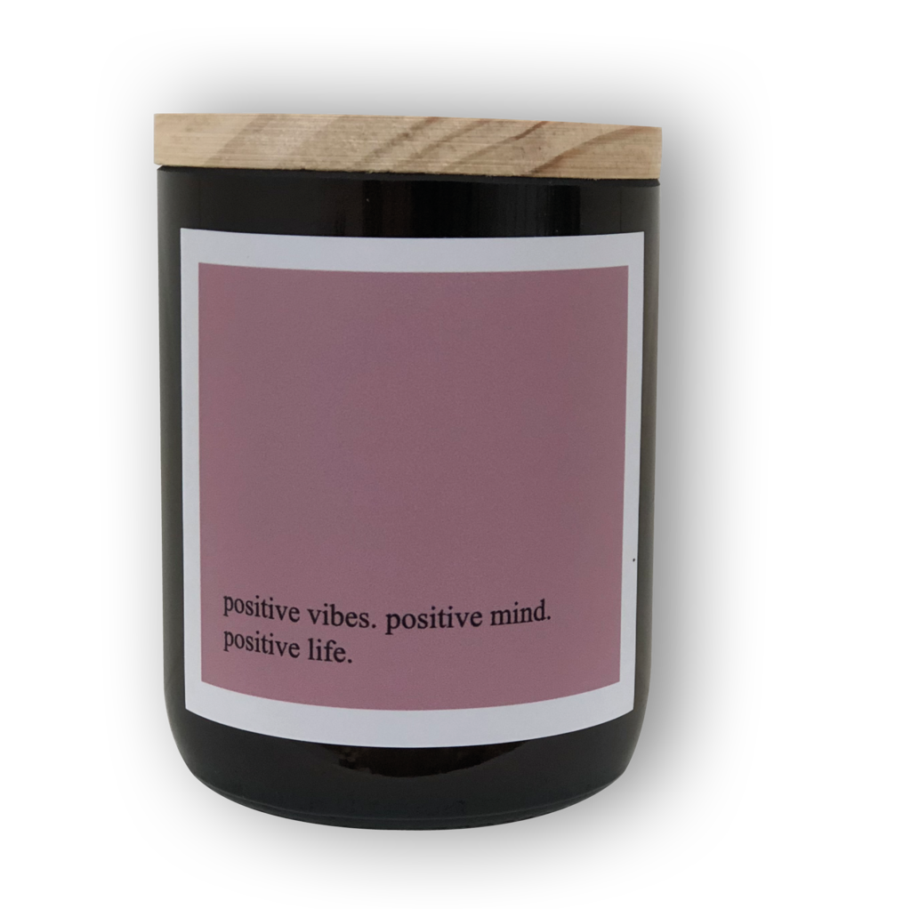 Heartfelt Quote Candle - Positive Vibes
