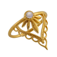 Gold Guidance Moonstone Ring