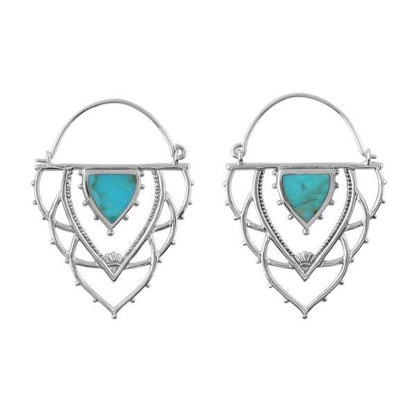 Ancient Archways Turquoise Hoops