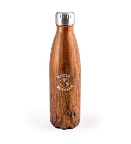 Earth Bottle faux timber - pale 500ml - Roma Gift & Gourmet