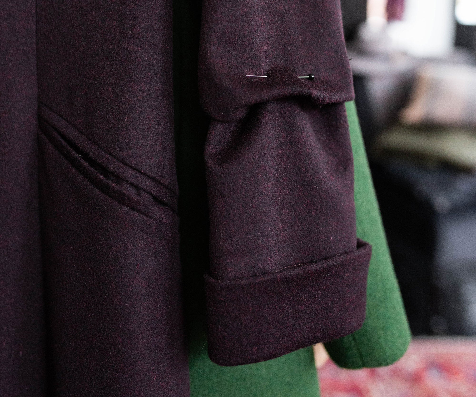 Alteration to the sleeve of a Belted Coat