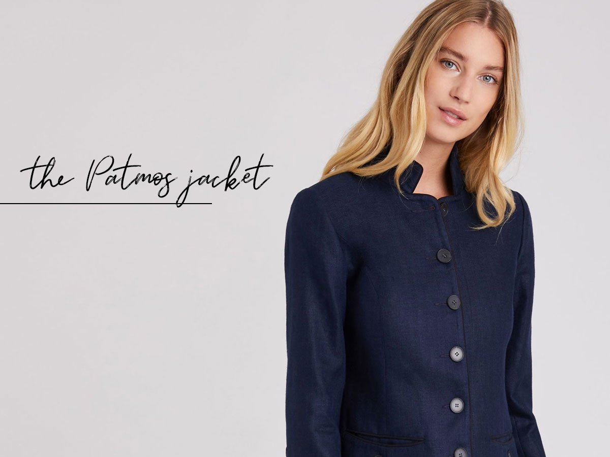 Patmos Jacket in Navy Linen