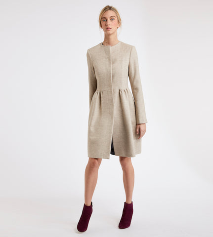 Katherine Hooker new autumn winter collection skirted dress coat
