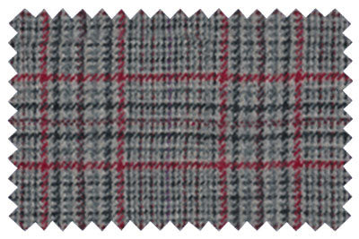 Grey and Red Check