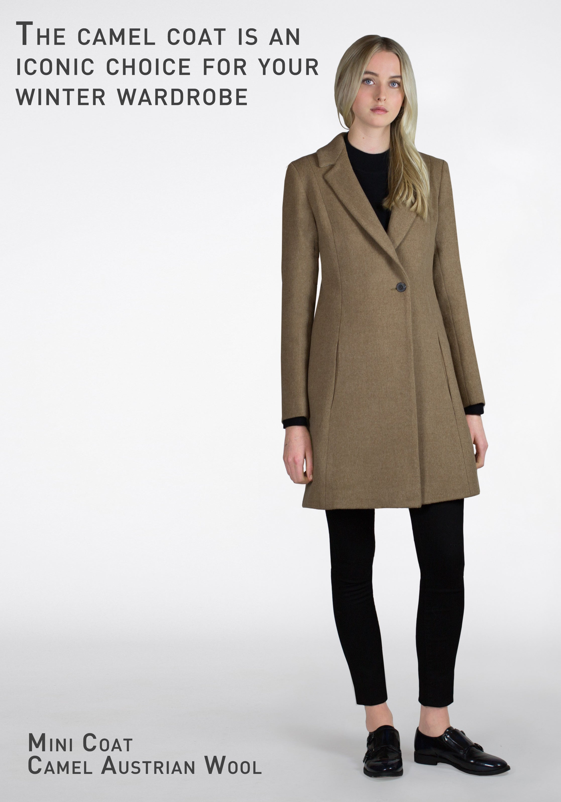 CAMEL MID LENGTH COAT