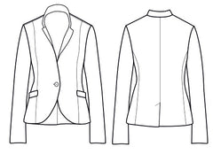 Tallulah jacket technical drawing