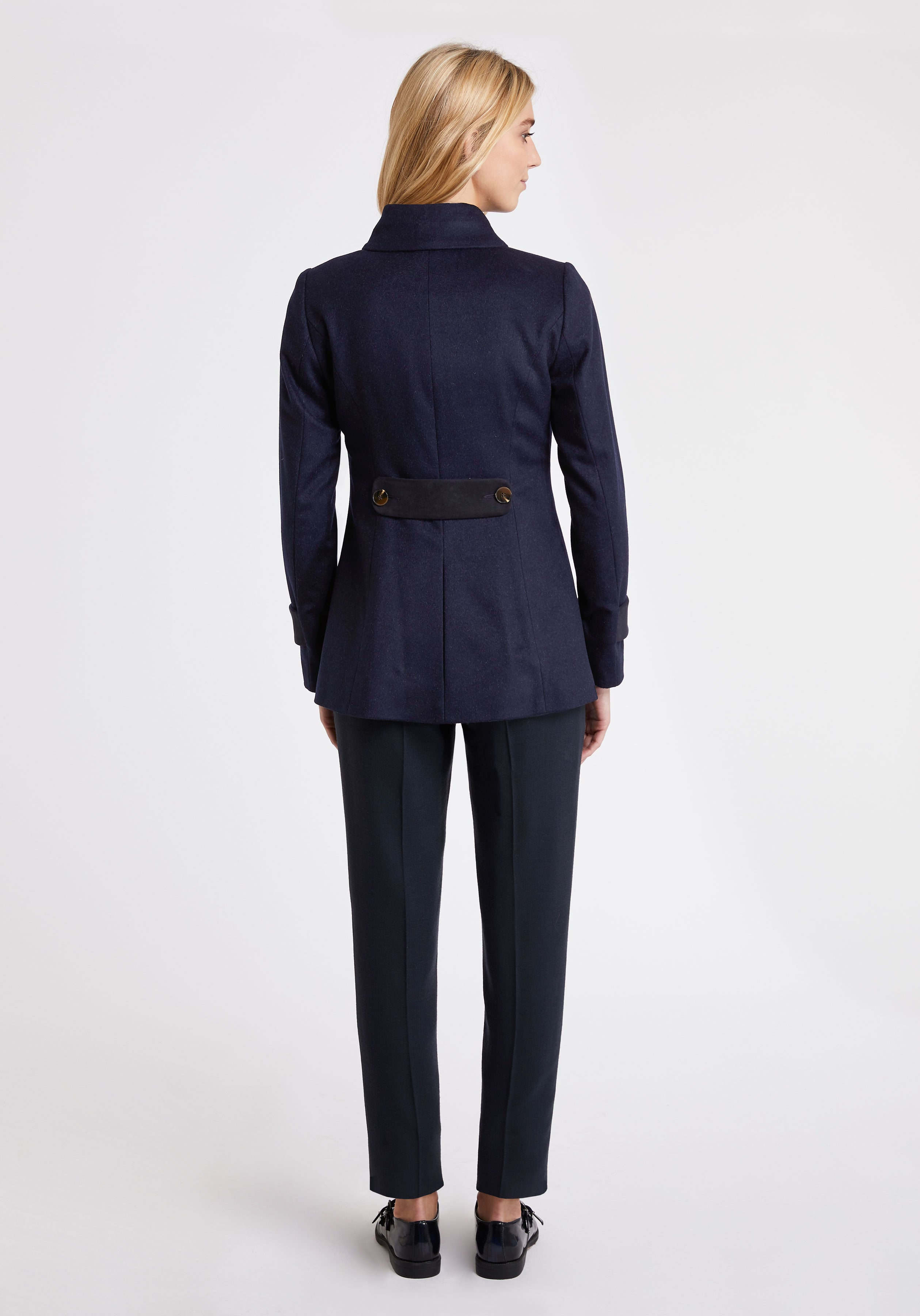 Hendre Jacket in Navy Cashmere