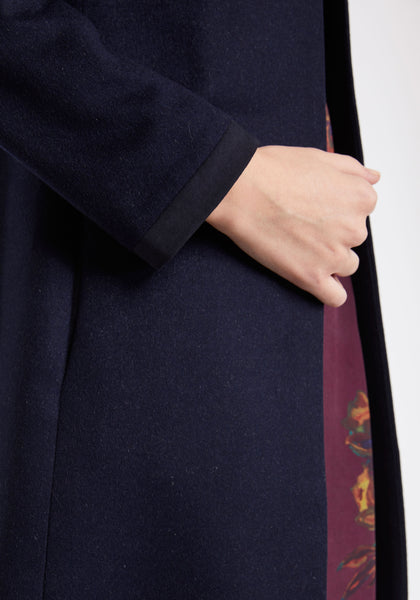 Tallulah Coat in Navy Cashmere