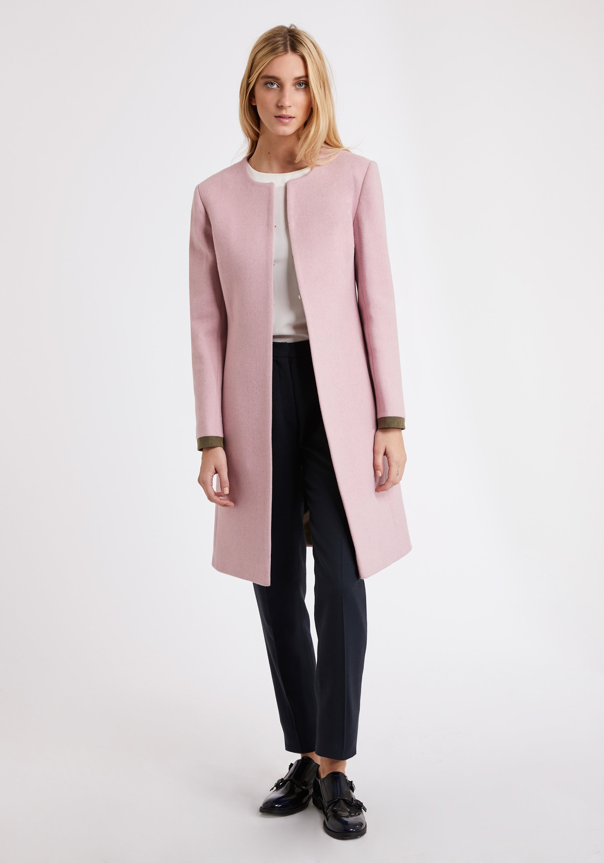 Tallulah Coat | Soft Pink front view