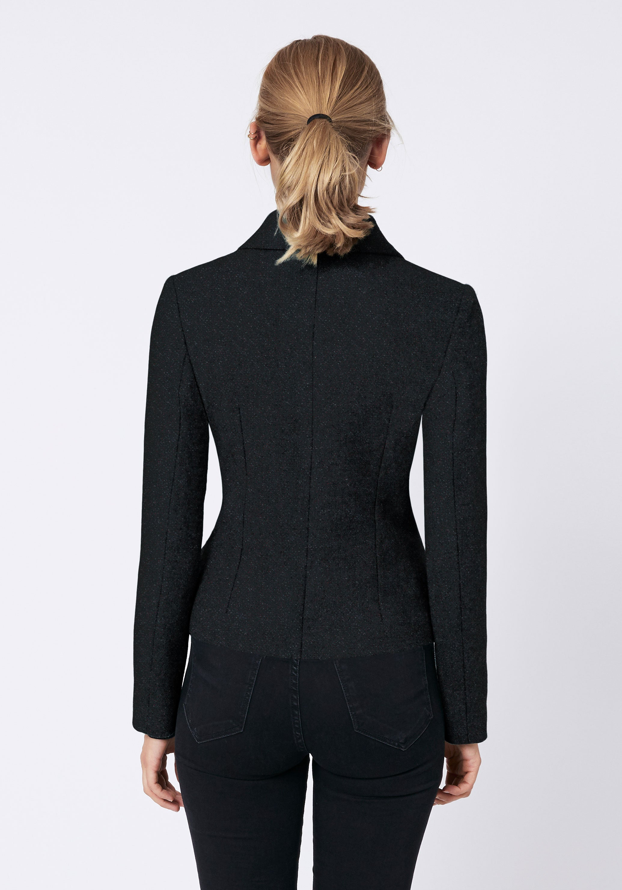 Alexander Jacket in Black with Red Fleck