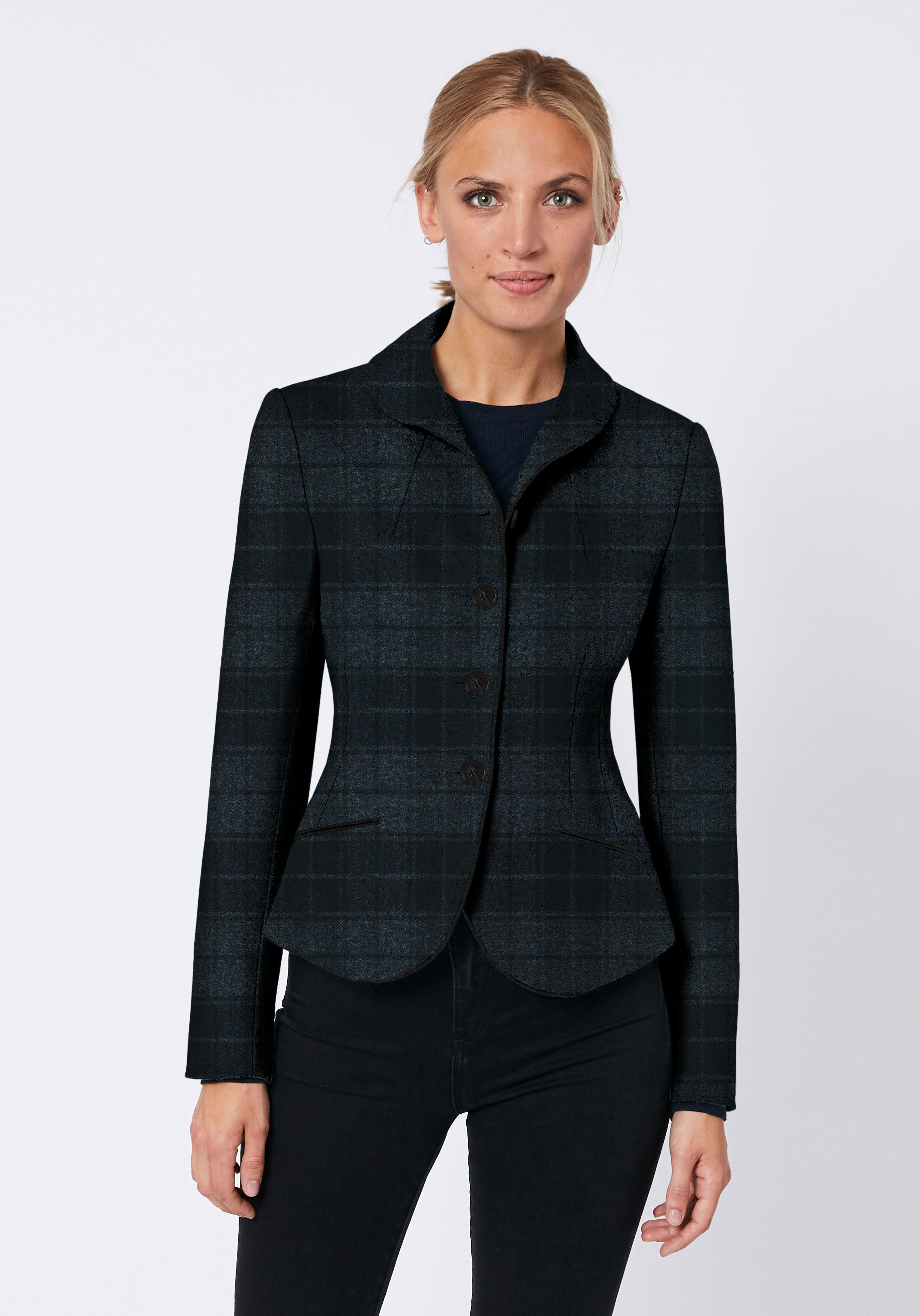 Alexander Jacket in Grey & Black Check