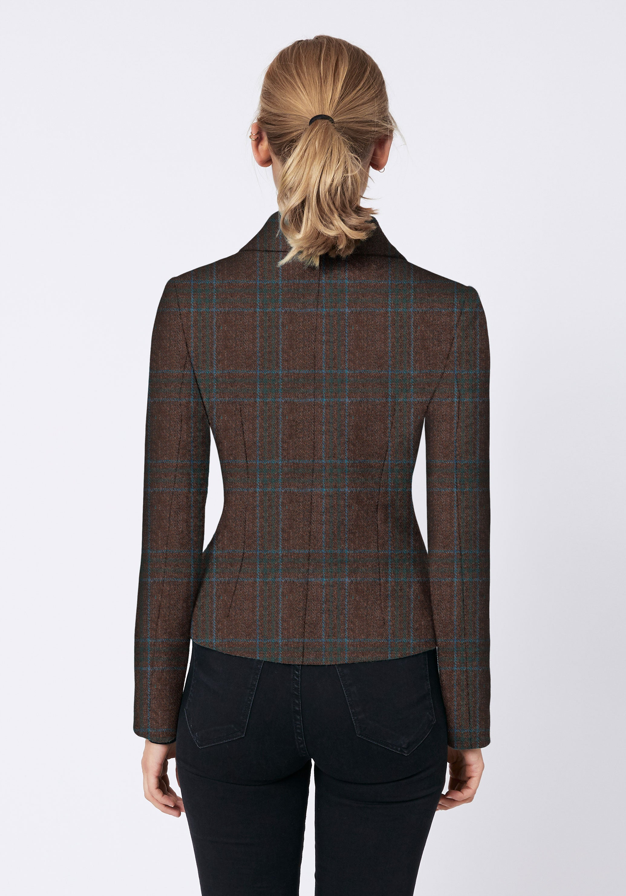 Alexander Jacket in Brown & Turquoise Check