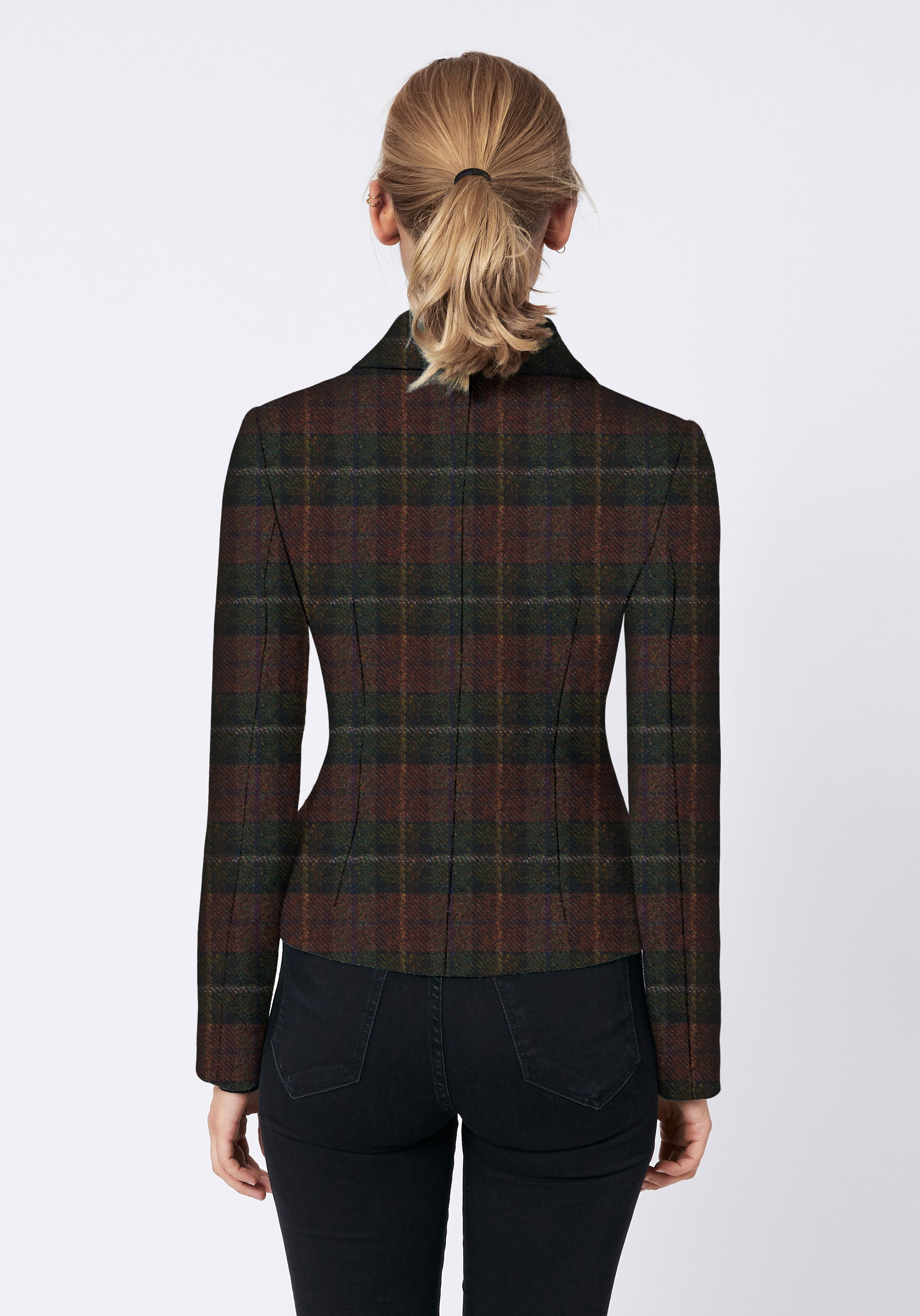 Alexander Jacket in Brown and Green Check