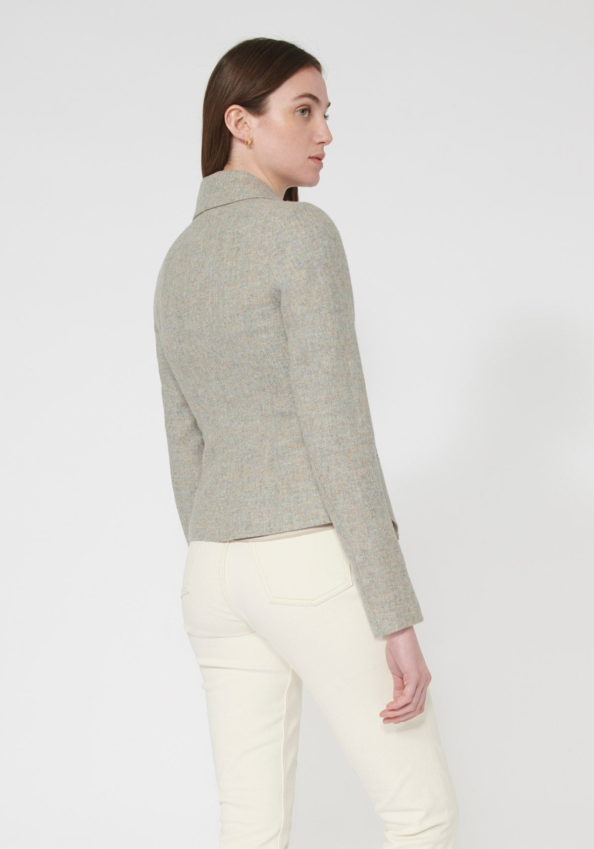 Alexander Jacket | Lilac Wool back view