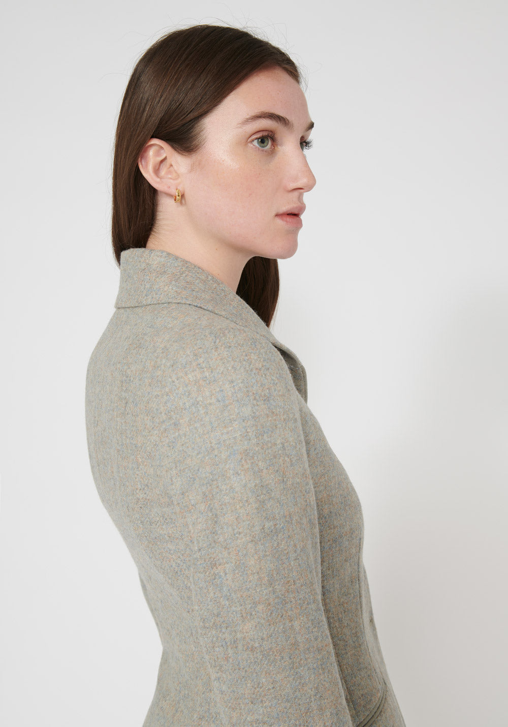 Alexander Jacket | Lilac Wool side view