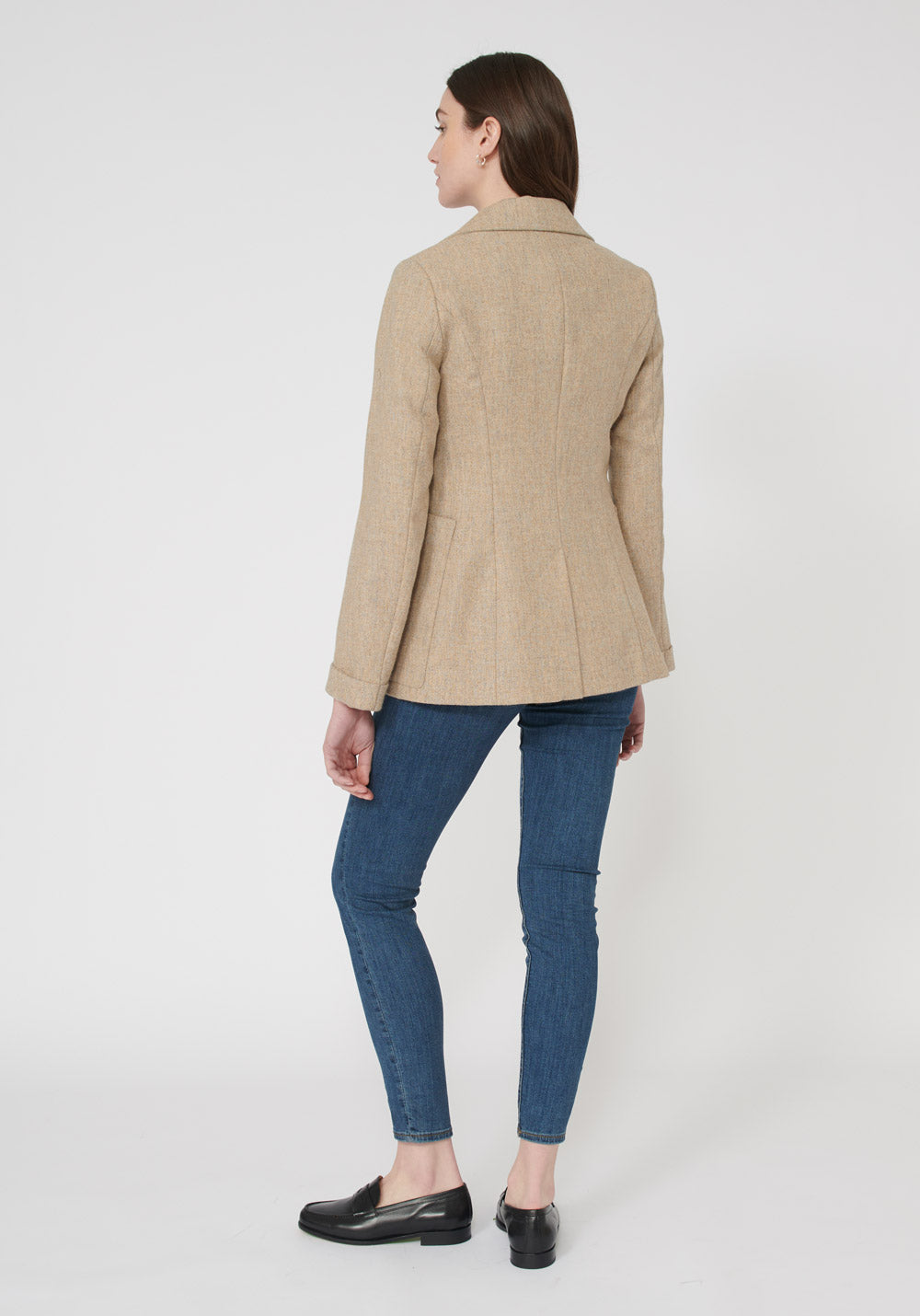 Artist Jacket | Pebble Peach Wool back view